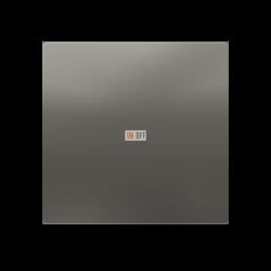 Выключатель 1-клавишный, Сталь, серия Atlas Design, Schneider Electric