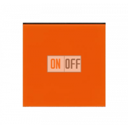 Выключатель 1-клавишный, цвет Оранжевый/Дымчатый черный, Levit, ABB
