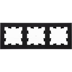 Рамка 3-ая (тройная), Стекло Матовое Черное, серия Atlas Design Nature, Schneider Electric