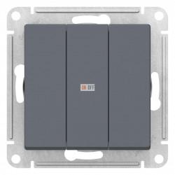 Выключатель 3-клавишный, Грифель, серия Atlas Design, Schneider Electric
