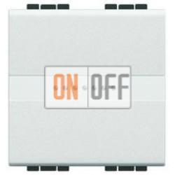 Выключатель 1-клавишный ,проходной с подсветкой (с двух мест) Axial, цвет Белый, LivingLight, Bticino
