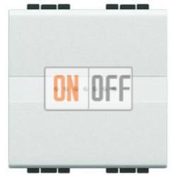 Выключатель 1-клавишный , с подсветкой Axial, цвет Белый, LivingLight, Bticino