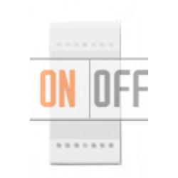 Выключатель 2-клавишный , с подсветкой (винтовые клеммы), цвет Белый, LivingLight, Bticino