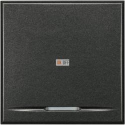 Выключатель 1-клавишный ,проходной с подсветкой (с двух мест) (винтовые клеммы), цвет Антрацит, Axolute, Bticino