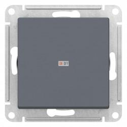 Выключатель 1-клавишный; кнопочный, Грифель, серия Atlas Design, Schneider Electric