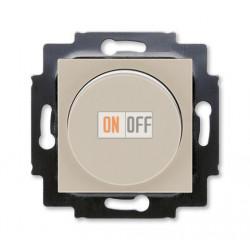 Диммер поворотно-нажимной , 600Вт для ламп накаливания, цвет Макиато/Белый, Levit, ABB