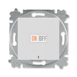 Выключатель 1-клавишный ,проходной с подсветкой (с двух мест), цвет Серый/Белый, Levit, ABB