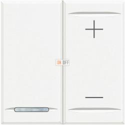 Диммер нажимной (кнопочный) 400Вт универсальный, цвет Белый, Axolute, Bticino
