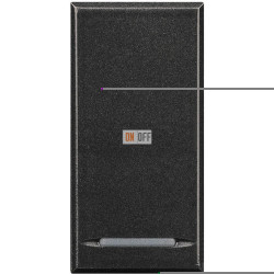 Выключатель 2-клавишный , с подсветкой, цвет Антрацит, Axolute, Bticino