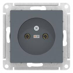 Розетка 1-ая электрическая без заземления, Грифель, серия Atlas Design, Schneider Electric
