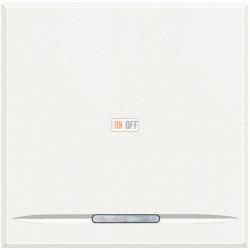 Выключатель 1-клавишный ,проходной с подсветкой (с двух мест), цвет Белый, Axolute, Bticino