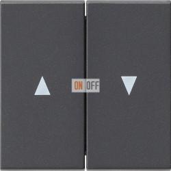 Выключатель для жалюзи (рольставней) кнопочный, цвет Антрацит, Gira