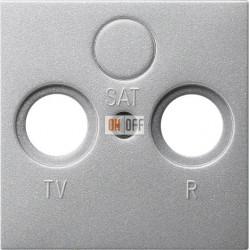 Розетка телевизионная проходная ТV-FМ, цвет Алюминий, Gira