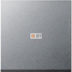 Диммер нажимной (кнопочный) 400Вт для л/н и эл.трансф., цвет Алюминий, Gira