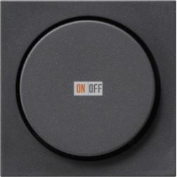 Диммер поворотно-нажимной 1000Вт для ламп накаливания, цвет Антрацит, Gira