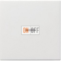 Выключатель 1-клавишный ,проходной с подсветкой (с двух мест), цвет Белый, Gira