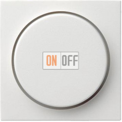 Диммер поворотно-нажимной 1000Вт для ламп накаливания, цвет Белый, Gira
