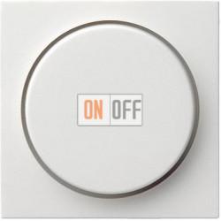 Диммер поворотно-нажимной , 600Вт для ламп накаливания, цвет Белый, Gira