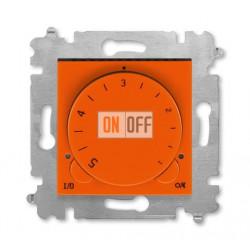 Терморегулятор для теплого пола, цвет Оранжевый/Дымчатый черный, Levit, ABB