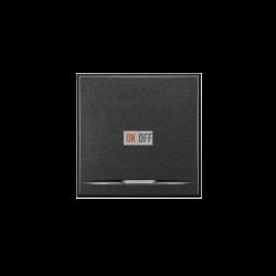 Выключатель 1-клавишный  , цвет Антрацит, Axolute, Bticino