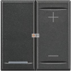 Диммер нажимной (кнопочный) 400Вт универсальный, цвет Антрацит, Axolute, Bticino