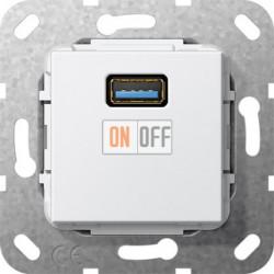 Розетка USB 1-ая (разъем), цвет Белый, Gira