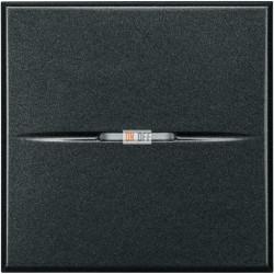 Выключатель 1-клавишный , с подсветкой Axial, цвет Антрацит, Axolute, Bticino