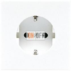Розетка 1-ая электрическая , с заземлением и защитными шторками (винтовой зажим), цвет Бежевый, LS990, Jung