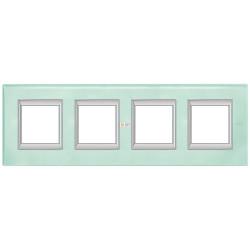 Рамка 4-ая (четверная) прямоугольная, цвет Кристалл, Axolute, Bticino