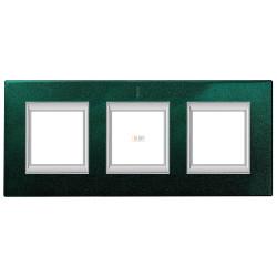 Рамка 3-ая (тройная) прямоугольная, цвет Малахит, Axolute, Bticino