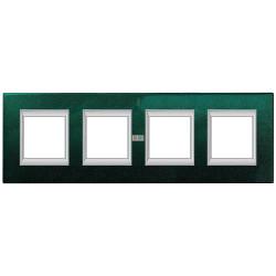 Рамка 4-ая (четверная) прямоугольная, цвет Малахит, Axolute, Bticino