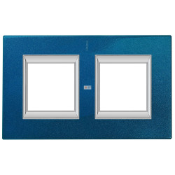 Рамка 2-ая (двойная) прямоугольная, цвет Сапфир, Axolute, Bticino