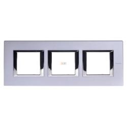 Рамка 3-ая (тройная) прямоугольная, цвет Темное серебро, Axolute, Bticino