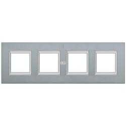 Рамка 4-ая (четверная) прямоугольная, цвет Темное серебро, Axolute, Bticino