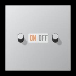 Выключатель 2-кл кноп. НО (тумблер-цилиндр), цвет Алюминий, LS1912