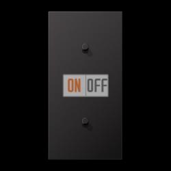Выключатель 1-кл кноп. НО + Выключатель 1-кл кноп. НО (тумблер-цилиндр) верт, цвет Dark, LS1912