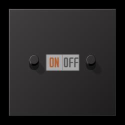 Выключатель 2-кл кноп. НО (тумблер-цилиндр), цвет Dark, LS1912