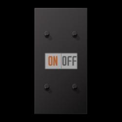 Выключатель 2-кл + Выключатель 2-кл кноп. НО (тумблер-цилиндр) верт, цвет Dark, LS1912