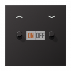 Выключатель для жалюзи (рольставней) с фиксацией (тумблер-цилиндр), цвет Dark, LS1912