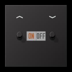 Выключатель для жалюзи (рольставней) кноп. (тумблер-цилиндр), цвет Dark, LS1912