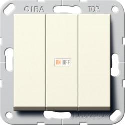 Выключатель 3-клавишный, цвет Бежевый, Gira