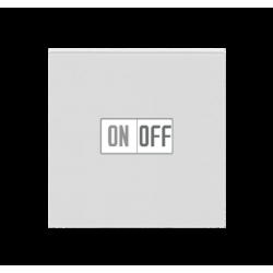 Выключатель 1-клавишный, цвет Серый/Белый, Levit, ABB