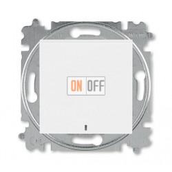 Выключатель 1-клавишный , с подсветкой, цвет Белый/Белый, Levit, ABB