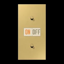 Выключатель 1-кл прох. + Выключатель 1-кл кноп. НО (тумблер-цилиндр) верт, цвет Classic, LS1912