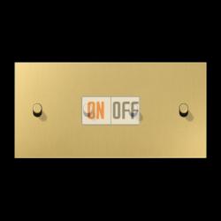 Выключатель 2-кл кноп. НО + Выключатель 2-кл кноп. НО (тумблер-цилиндр) гориз, цвет Classic, LS1912