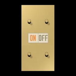 Выключатель 2-кл кноп. НО + Выключатель 2-кл кноп. НО (тумблер-цилиндр) верт, цвет Classic, LS1912