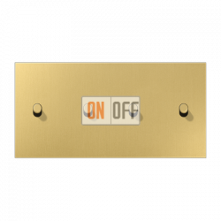 Выключатель 2-кл + Выключатель 2-кл кноп. НО (тумблер-цилиндр) гориз, цвет Classic, LS1912