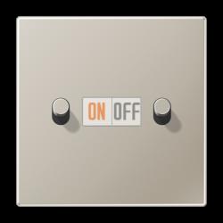 Выключатель 2-кл кноп. НО (тумблер-цилиндр), цвет Нерж. сталь, LS1912