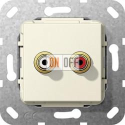 Розетка аудио/видео RCA с двумя гнездами