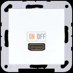 Розетка HDMI 1-ая (разъем), цвет Белый, A500, Jung